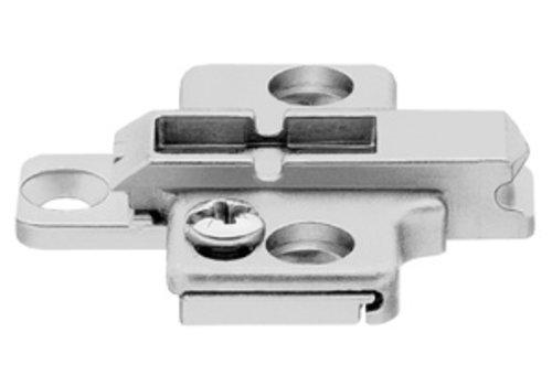 Kruismontageplaat 0mm. Verstelbaar.