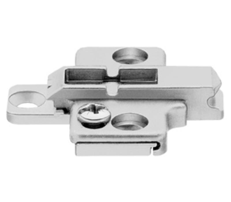 Kruismontageplaat 0mm. Verstelbaar. 175H7100.