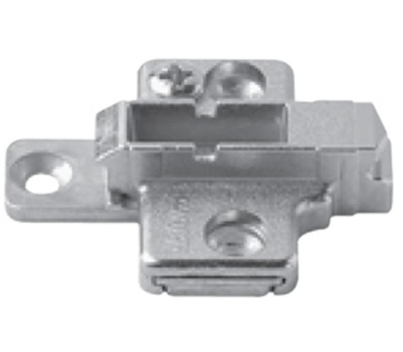 Kruismontageplaat 3mm. Verstelbaar. 175H7130.