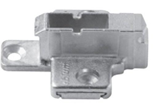 Kruismontageplaat 9mm. Verstelbaar.