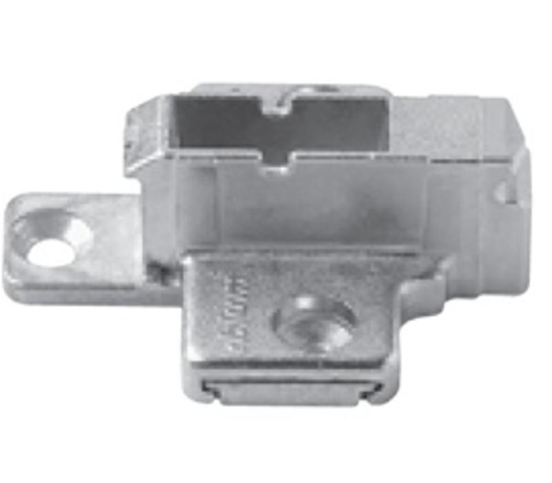 Kruismontageplaat 9mm. Verstelbaar.175H7190