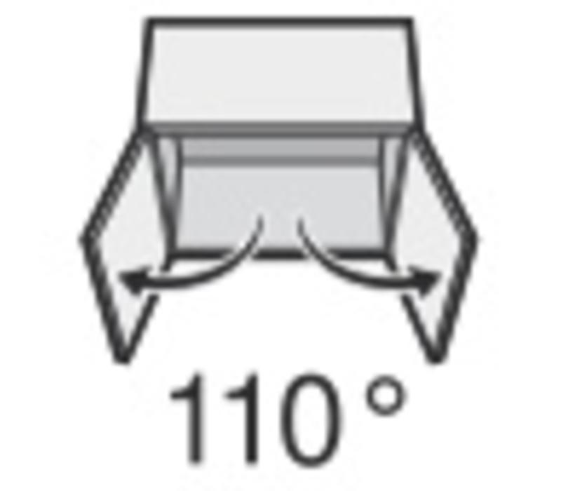 BLUM 110º scharnier. Zonder veer, schroeftop