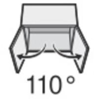 BLUM 110º schroeftop zonder veer voorslaand/opliggend