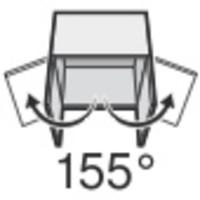 BLUM 155º scharnier. Zonder veer, schroeftop opliggend
