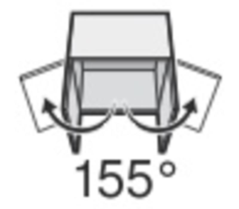 71T7640N 155º schroeftop met veer, middenaanslag/ ½ voorslaand