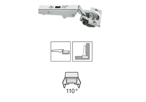 BLUM 110º scharnier schroeftop Blumotion(soft close) opliggend