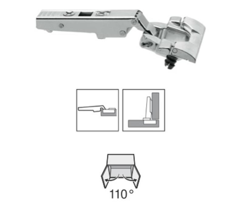 BLUM 110º scharnier INSERTA zelfsluitend voorslaand/opliggend