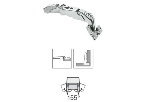 BLUM 155º scharnier met veer schroeftop opliggend