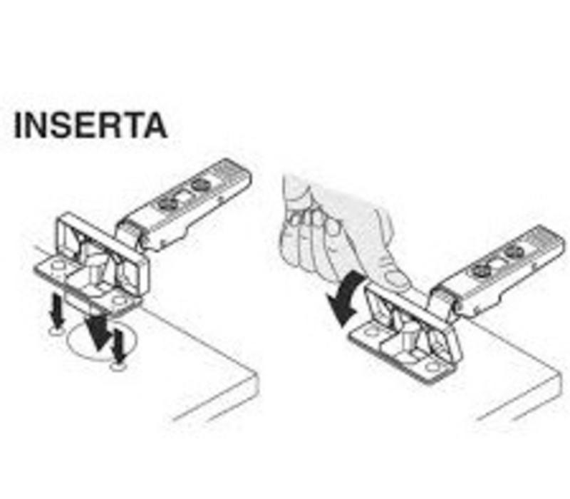 BLUM 110º scharnier INSERTA zonder veer voorslaand/opliggend
