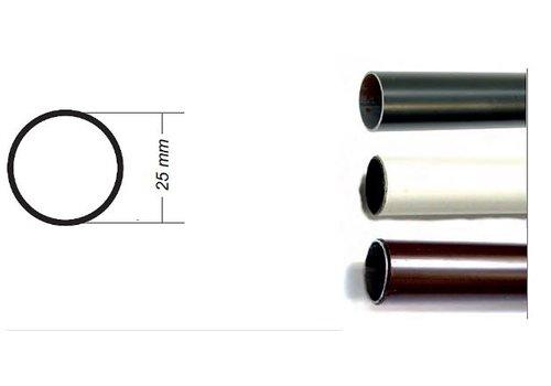 Roede 25mm rond zwart lengte 1900mm