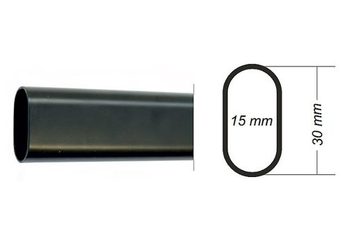 Roede 30x15mm staal zwart lengte 1900mm