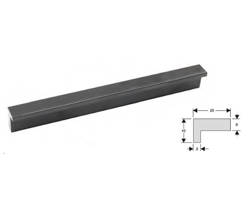 Greep al1426 aluminium zwart gelakt