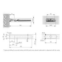 Staafplankdrager Triade voor plank maximaal 300mm diep