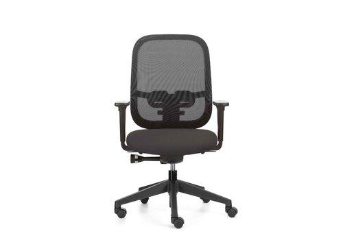 ROFA Bureaustoel TWP, Zitting Grijs, Met 5 verstelmogelijkheden