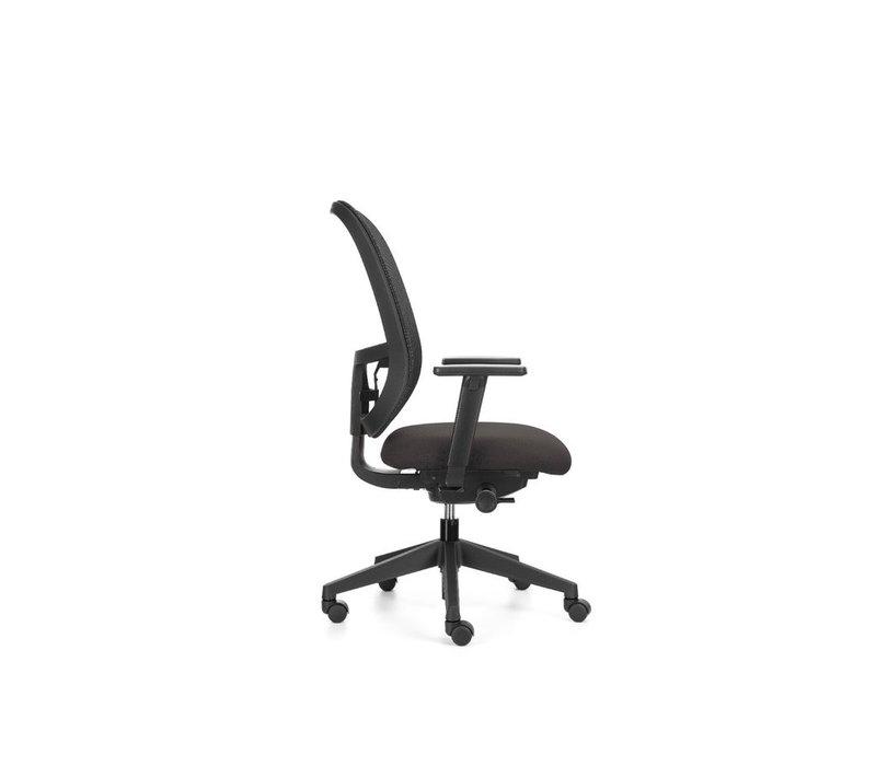 Bureaustoel TWP, Zitting Grijs, Met 5 verstelmogelijkheden