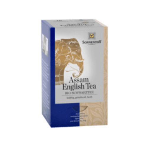 Sonnentor Assam English zwarte thee bio 36gr. 18 stuks