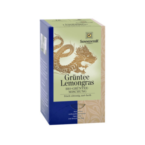 Sonnentor Groene thee- Lemongrass bio 21,6gr 18 stuks