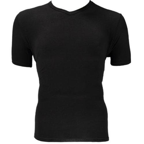 Bamboo Bamboe T-shirt V hals 2 pack zwart maat XL