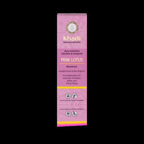 Khadi Pink lotus Face & Body Oil 100 ml  BDIH