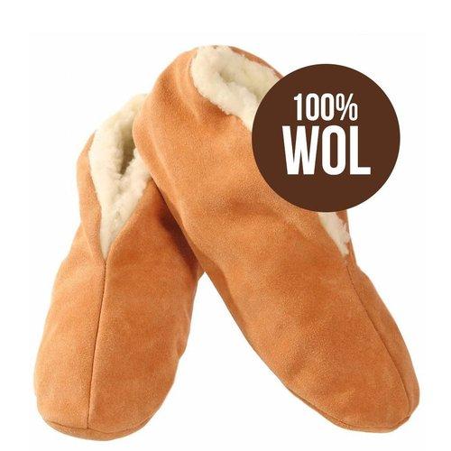Bernardino's Bernardino sloffen suède beige 100% wol 1 paar