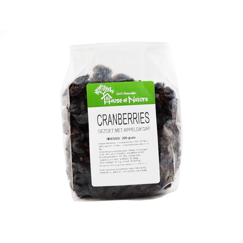 House Of Nature House Of Nature Cranberries 200gr.