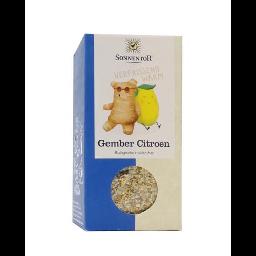 Sonnentor Sonnentor biologische Gember thee  citroen 80g