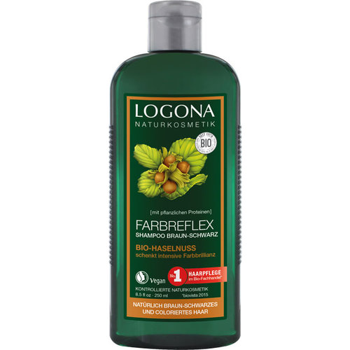 Logona Colour reflex shampoo brown-black organic hazelnut 250ml