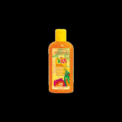 Logona KIDS shampoo & shower gel freshness with a fruity coma 200ml