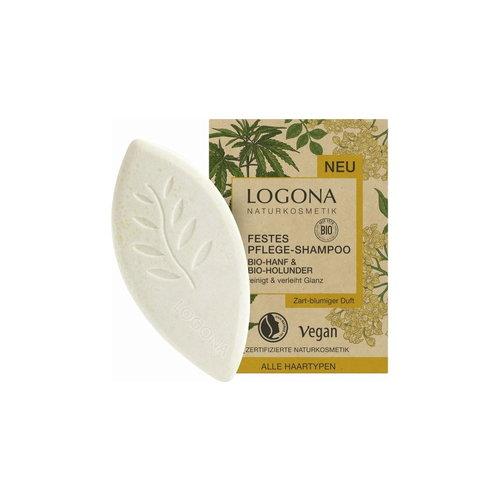 Logona Solid care shampoo organic-hemp & organic-elderflower 60g