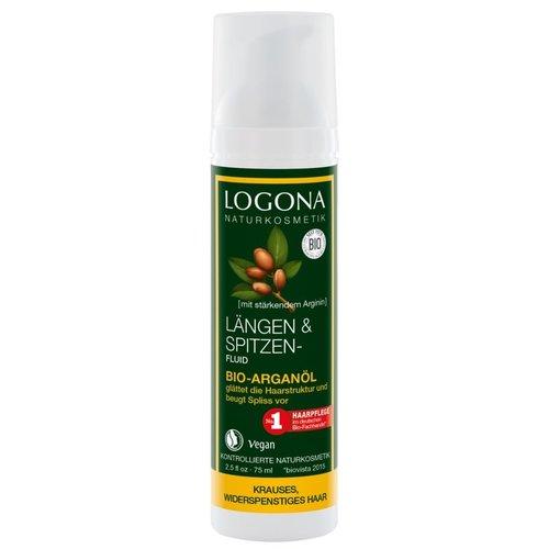 Logona Length & tip fluid organic argan oil 75ml