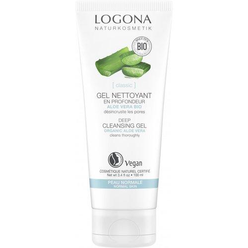 Logona Classic deep cleansing gel organic aloe vera 100ml