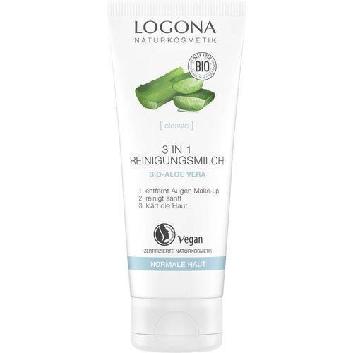 Logona Classic 3 in 1 cleansing milk organic aloe vera 100ml