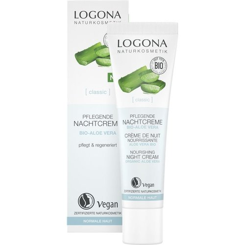 Logona Classic nourishing night cream organic aloe vera 30ml