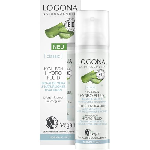 Logona Classic hyaluron hydro fluid organic aloe vera & hyaluronic acid 30ml
