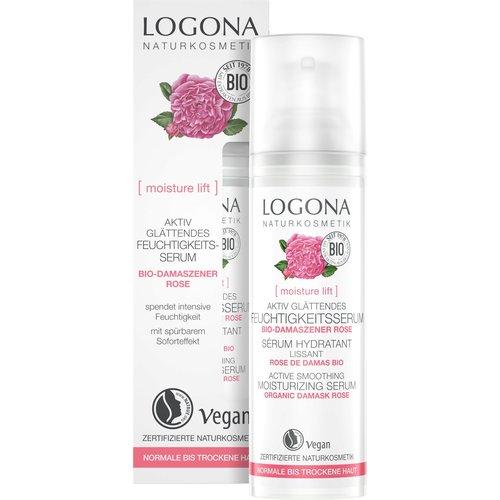 Logona Moisture lift active smoothing moisturizing mask organic damask rose 15ml
