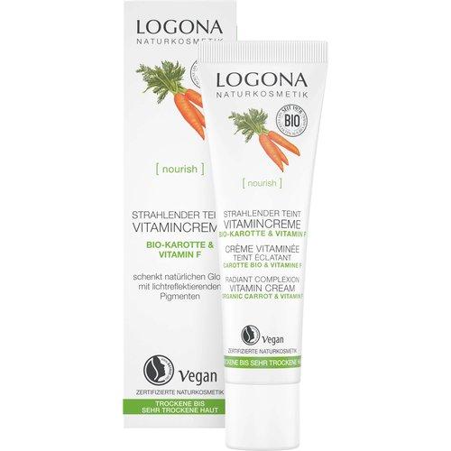 Logona Nourish radiant complexion vitamin cream organic carrot & vitamin F 30ml