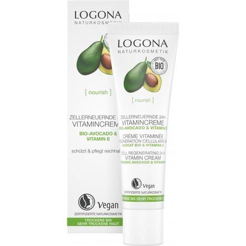 Logona Nourish cell regenerating 24h vitamin cream organic avocado & vitamine E 30ml