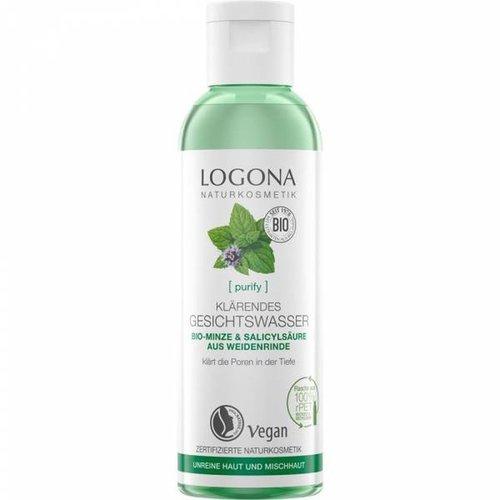 Logona Purify clarifying facial toner organic mint & salicylic from willow bark 125ml