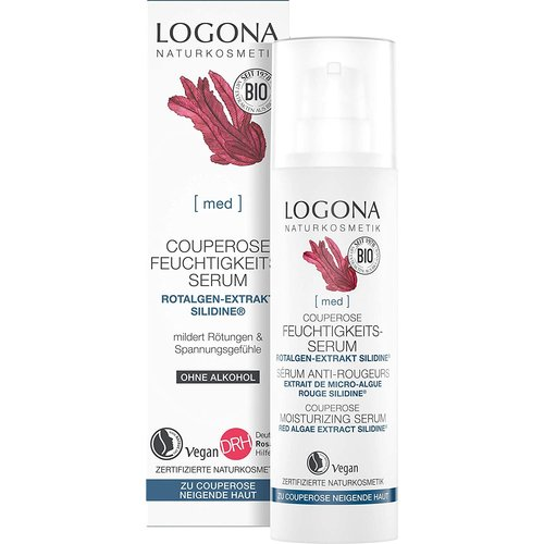 Logona Med couperose moisturizing serum red algae extract silidine 30ml