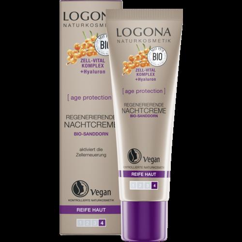 Logona Age protection regenerating night cream bio sea buckthorn 30ml