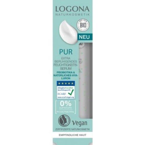 Logona Pur extra soothing moisturising serum probiotics & natural hyaluronic acid 30ml