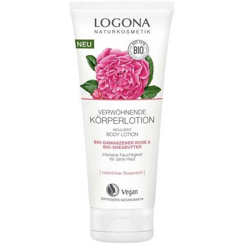 Logona indulgent body lotion bio-damask rose & bio-shea butter 200ml