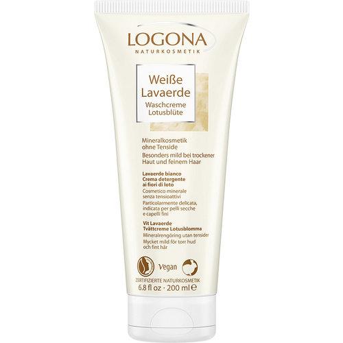 Logona White kaolin lotus flower wash cream practical to use 200ml