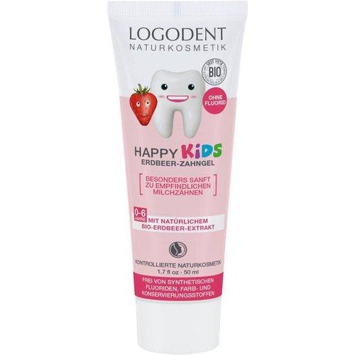 Logona Happy kids strawberry toothgel 50ml
