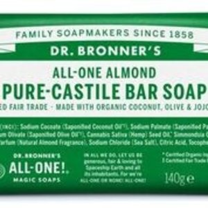 Dr Bronners barsoap amandel 149gr