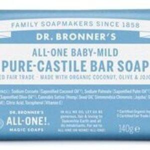 Dr Bronners barsoap baby mild 140gr