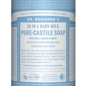 Dr Bronners Magic pure castile soap baby mild 945ml
