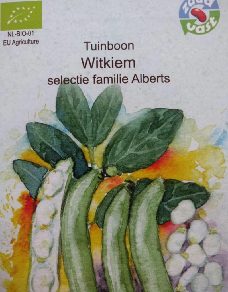 Tuinboon Tineke's Witkiem -   in zakje aquarel