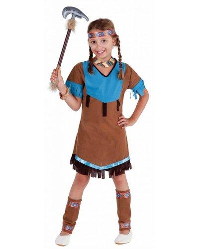 Magicoo Indianerin Squaw Kostüm für Mädchen