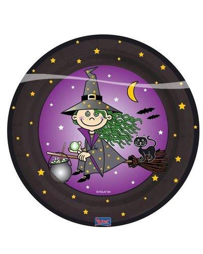 """magicoo 8 Partyteller mit dem Motiv """"Hexe"""" für Halloweenparty"""